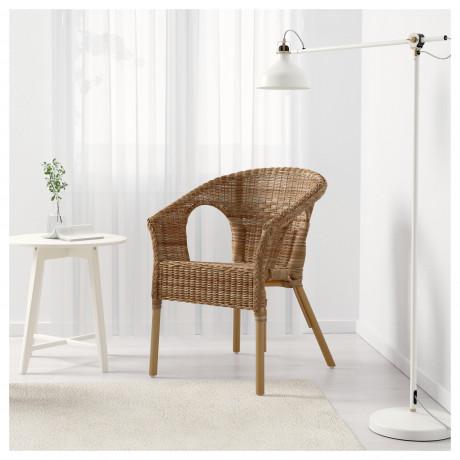 Кресло АГЕН ротанг, бамбук фото 1